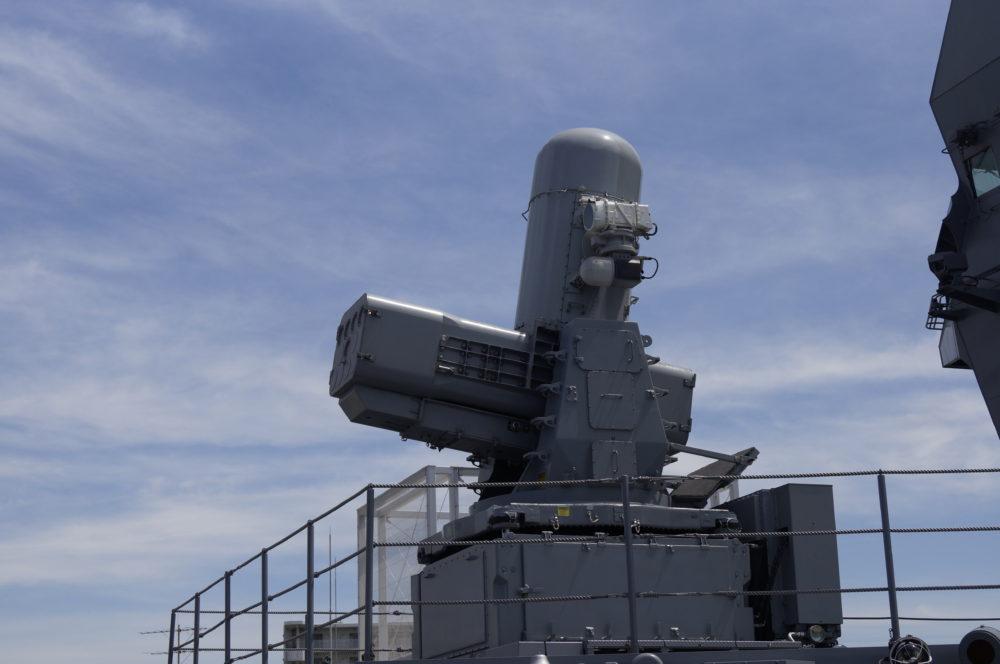護衛艦 かが 艦橋前 Sea RAM